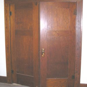 Paneled Oak Parlor Door