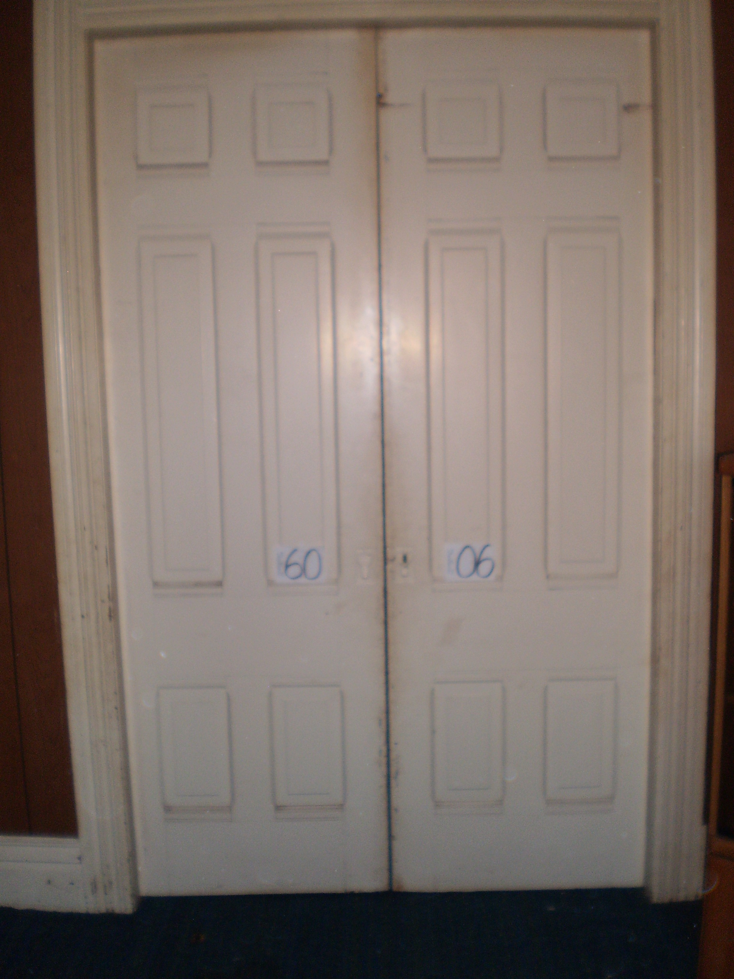 6 Panel Painted Pocket Door Pair Nd Millwerk Salvage And