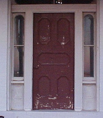 Double Arched Entry Door With Sidelights