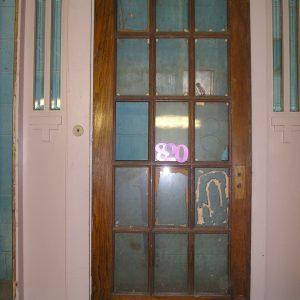 15 Pane Heavy Oak Door