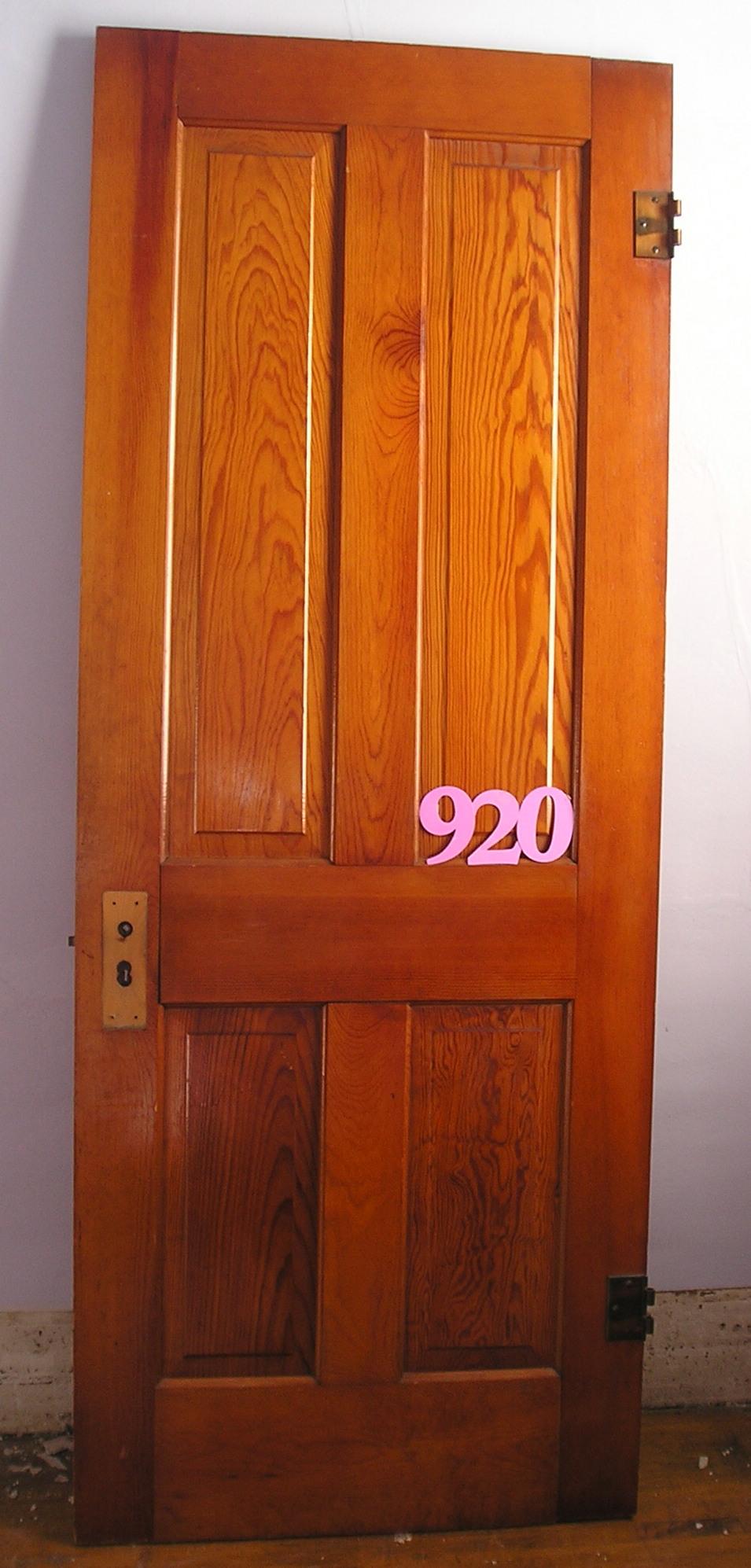 Raised four panel fir yellow pine doors nd millwerk for Yellow pine wood doors