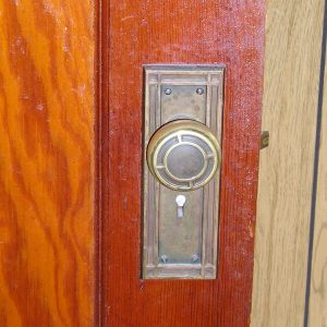 Brass Mission Doorknob & Back Plate