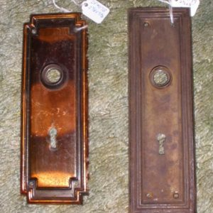 Reclaimed Antique Doorknobs Door Back Plates ND Millwerk Salvage