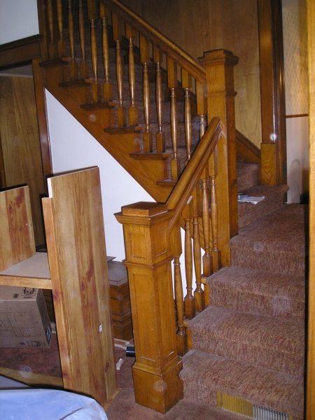 Arts Crafts Oak Stair Parts