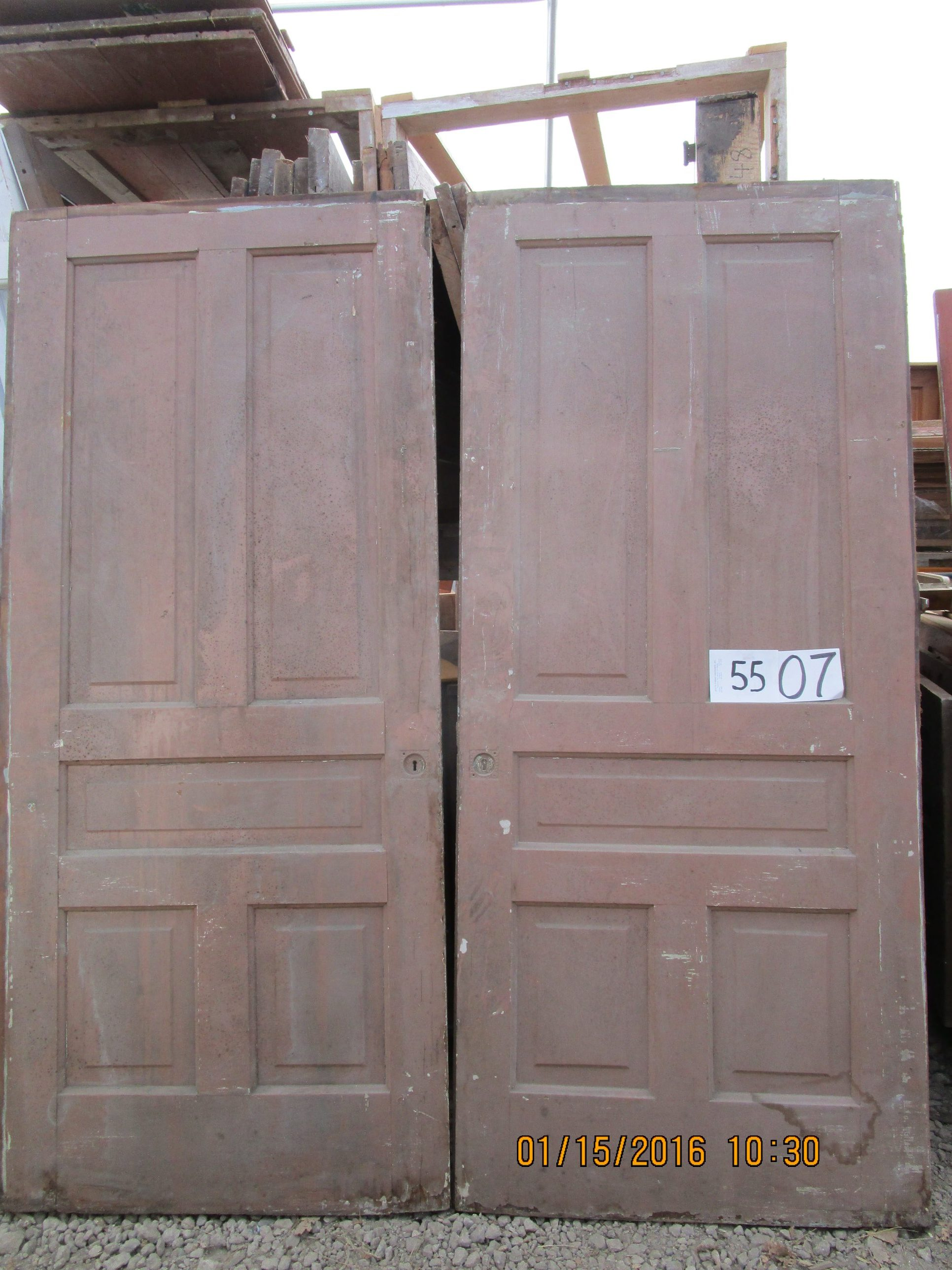 Victorian 5 Panel Pocket Doors