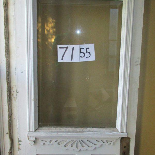 Oak Exterior Door With Beveled Glass