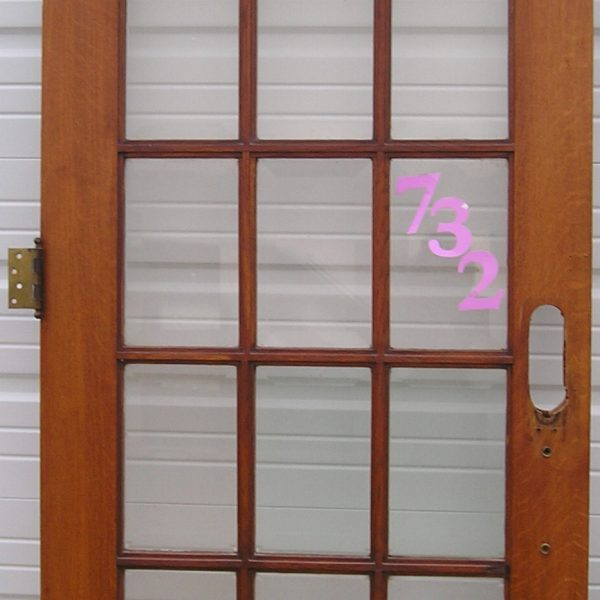 French Style 12 Pane Glass Pine Door Nd Millwerk Salvage And Sales